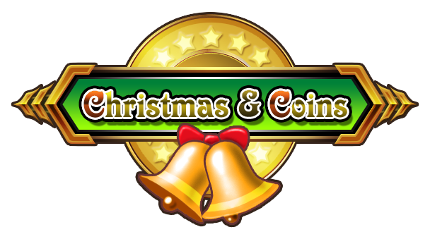 Christmas and coins logo